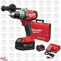 "Milwaukee 2703-22 M18 Gen 2 FUEL 1/2"" Drill/Driver Kit 5.0Ah Batt Open Box"