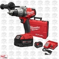 "Milwaukee 2704-22 M18 Gen 2 FUEL 1/2"" Compact Hammer Drill/Drvr 5Ah Open Box"