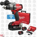 "Milwaukee 2706-22 M18 FUEL 1/2"" Hammer Drill/Driver w\ ONE-KEY+3 5.0Ah Batts"