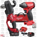 "Milwaukee 2707-22 M18 FUEL HOLE HAWG 1/2"" Right Angle Drill w/Hex Impact Kit"