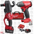 Milwaukee 2708-22 M18 FUEL HOLE HAWG Right Angle Drill Kit w/ Impact Wrench