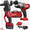 Milwaukee 2708-22 M18 FUEL HOLE HAWG Right Angle Drill w/ Hammr Drill Driver