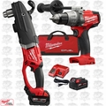 "Milwaukee 2709-22 M18 FUEL SUPER HAWG 1/2"" Right Angle Drill w/ Drill Driver"