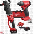 Milwaukee 2711-22 M18 FUEL SUPER HAWG Right Angle Drill w/ Hex Impact Driver