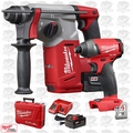 "Milwaukee 2712-22 M18 FUEL 1"" SDS Plus Rotary Hammer w/ Hex Impact Driver"