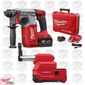 "Milwaukee 2712-22DE M18 FUEL 1"" SDS Plus Rotary Hammer & HAMMERVAC Dedicated Dust Extractor Kit"