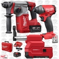 "Milwaukee 2712-22DE M18 FUEL 1"" SDS Plus Rotary Hammer w/Dust Kit+Hex Impact"