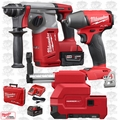 "Milwaukee 2712-22DE M18 FUEL 1"" SDS Plus Rotary Hammer w/Dust Kit + Impact"
