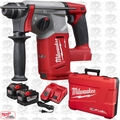 "Milwaukee 2712-22HD M18 FUEL 1"" SDS Plus Rotary Hammer 2x 9.0 Amps O-B"