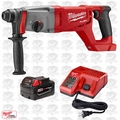 "Milwaukee 2713-20 M18 FUEL 1"" SDS Plus Rotary Hammer Inc. Batt & Charger"
