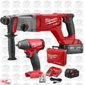 "Milwaukee 2713-22 M18 FUEL 1"" SDSPlus D-Handle Rotary Hammer w/Impact Wrench"