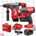 "Milwaukee 2715-22 M18 FUEL 1-1/8"" SDS Plus Rotary Hammer w/ Impact Wrench"