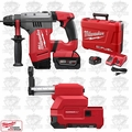 "Milwaukee 2715-22DE M18 FUEL 1-1/8"" SDS Plus Rotary Hammer & HAMMERVAC Extractor"
