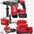 "Milwaukee 2715-22DE M18 FUEL 1-1/8"" SDS Plus Rotary Hammer+Dust Extractor O-B"