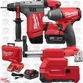 "Milwaukee 2715-22DE M18FUEL 1-1/8"" SDSPlus Rotary Hammer w/Dust+Impact Wrench"