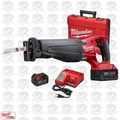 Milwaukee 2720-21 18V M18 FUEL SAWZALL Kit w/ 2 5.0Ah Batteries,Charger,Cas