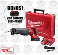 "Milwaukee 2720-21 M18 FUEL SAWZALL Kit ""2"" 4.0ah XC Batts"