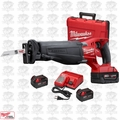 Milwaukee 2720-22 18V M18 FUEL SAWZALL Kit w/ 3 5.0Ah Batteries,Charger,Cas