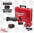 "Milwaukee 2720-22 Cordless Sawzall Recip Saw Kit ""3"" 4.0ah XC Batts"