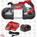 Milwaukee 2729-20 M18 FUEL 18V Deep Cut Band Saw Kit Inc. Batt & Charger