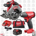 "Milwaukee 2730-21 M18 FUEL 6-1/2"" Cordless Circular Saw w/ Impact Wrench"