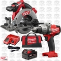 "Milwaukee 2730-21 M18FUEL 6-1/2"" Cordless Circular Saw w/Hammer Drill Driver"