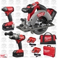 "Milwaukee 2730-21-X5 M18 FUEL 6-1/2"" Circular Saw Kit w/ 3 Batteries"