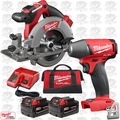 "Milwaukee 2730-22 M18 FUEL 6-1/2"" Cordless Circular Saw w/ Impact Wrench"