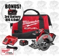 "Milwaukee 2730-22 M18 FUELTM 6-1/2"" Circular Saw Kit ""3"" 4.0ah XC Batts"