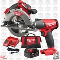 "Milwaukee 2731-21 M18 FUEL 7-1/4"" Cordless Circular Saw w/ Impact Wrench"