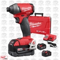 "Milwaukee 2753-22 Gen 2 FUEL 1/4"" Hex Impact Driver Kit 5.0Ah Batts Kit"