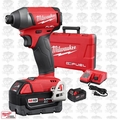 "Milwaukee 2753-22 M18 Gen 2 FUEL 1/4"" Hex Impact Driver Kit 5.0Ah Open Box"