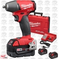 "Milwaukee 2754-22 M18 Gen 2 FUEL 3/8"" Compact Impact 3 5.0Ah Batts Fric-Ring"