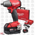 "Milwaukee 2755B-22 M18 FUEL 1/2"" Impact Wrench w/ Friction Ring Kit Open Box"