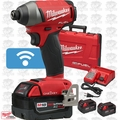 "Milwaukee 2757-22 M18 FUEL 1/4"" Hex Impact Driver w/ ONE-KEY + 3 5.0Ah Batts"