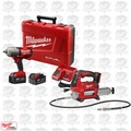 "Milwaukee 2763-22 M18 FUEL 1/2"" High Torque Impact Wrench + Grease Gun Bare"