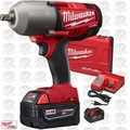 "Milwaukee 2763-22 M18 FUEL 1/2"" Hi Torque Impact Wrench Kit Hog Ring Kit O-B"