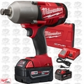 "Milwaukee 2764-22 M18 FUEL 3/4""dr Impact Wrench with Hog Ring Kit 5.0ah Batt"