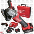 "Milwaukee 2783-22 M18 FUEL 4-1/2"" / 5"" Braking Grinder Kit 3x XC5Ah Batt Kit"