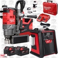 "Milwaukee 2787-22 M18 FUEL 1-1/2"" Magnetic Drill w/ Job Site Radio + 2 Batts"