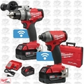 Milwaukee 2795-22 M18 FUEL 2-Tool Combo Kit with ONE-KEY 3x 5.0Ah Batteries