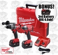 "Milwaukee 2797-22 FUEL M18 Brushless Hammer-Impact ""3"" 4.0ah XC Batts"