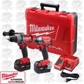 Milwaukee 2797-22 FUEL 18v Brushless Hammer Drill Impact Kit 2 XC4.0's