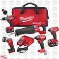 Milwaukee 2896-24 M18 18V Gen 2 FUEL Li-Ion 5-Tool Combo Kit w/2 5.0Ah Batts
