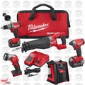 Milwaukee 2896-24 M18 Gen 2 FUEL Li-Ion 4-Tool Combo w/JobSite Radio+2 Batts