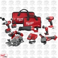 Milwaukee 2896-26 M18 Gen 2 FUEL Li-Ion 7-Tool Combo Kit w/2 5.0Ah Batteries