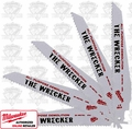 "Milwaukee 48-00-8706 25pk 8TPI 1"" High Wrecker Demolition Sawzall Bds"
