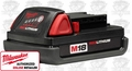Milwaukee 48-11-1815 Red Lithium-Ion Compact Cordless Battery