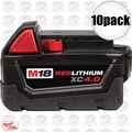 Milwaukee 48-11-1840 10pk M18 XC 4.0 Red Lithium Batteries