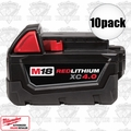 Milwaukee 48-11-1840 M18 XC 4.0 Red Lithium Batteries